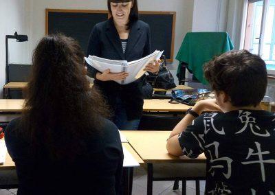 Lezione alla scuola Leon Battista Alberti